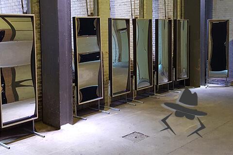 Kit de location 180x68 avec miroirs déformants espion