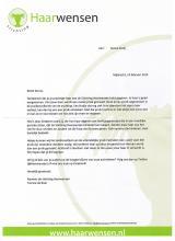 Merci lettre de st. Les cheveux souhaitent à Senna!